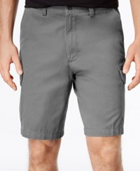 Geoffrey Beene Men's Big And Tall Washed Twill Cargo Shorts Graphite