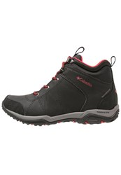 Columbia Fire Venture Waterproof Walking Boots Black Burnt Henna