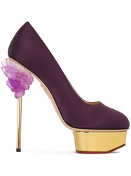 Charlotte Olympia 'Cosmic Dolly' Pumps Pink And Purple