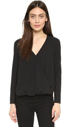 Cooper And Ella Alyssa Wrap Blouse Black