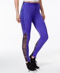 Reebok Speedwick Logo Leggings Ultima Purple