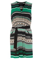 Dorothy Perkins Chain Print Sleeveless Cover Up Green