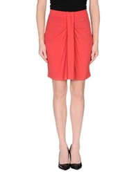 Michelle Windheuser Knee Length Skirts Red