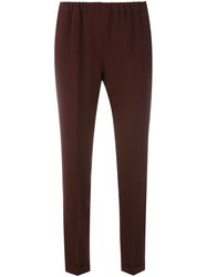 Alberto Biani Cropped Trousers Red