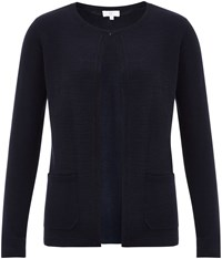 Cc Navy Blue Pocket Detail Cardigan