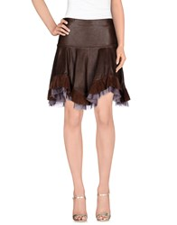 Just Cavalli Skirts Knee Length Skirts Women Dark Brown