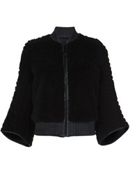 Kenzo Flared Sleeve Bomber Jacket Black
