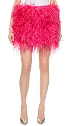 Dsquared Feather Skirt With Snakeskin Waist Fuchsia