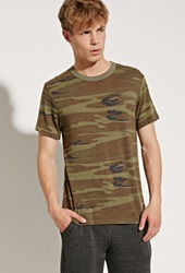 Forever 21 Alternative Apparel Eco Jersey Camo Tee Olive Brown