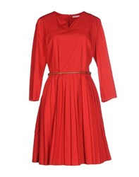 Just In Case Dresses Knee Length Dresses Women Red