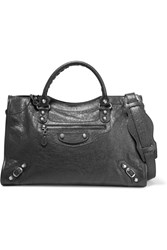 Balenciaga Giant 12 City Textured Leather Tote Gray