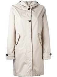 Woolrich Hooded Coat Nude And Neutrals