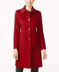 Anne Klein Petite Wool Cashmere Blend Walker Coat Only At Macy's Red