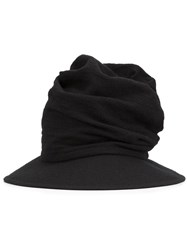 Y's 'Drape' Hat Black
