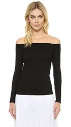 L'agence Cynthia Off Shoulder Top Black
