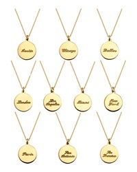 Coordinates Collection 22K Gold Plated Cove Pendant Necklace