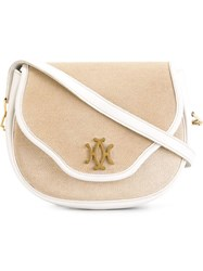 Hermes Vintage 'The Lift' Shoulder Bag Nude And Neutrals