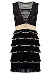 Elisabetta Franchi Jumper Dress Nero Cream Black