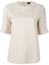Joseph Half Sleeve T Shirt Nude And Neutrals
