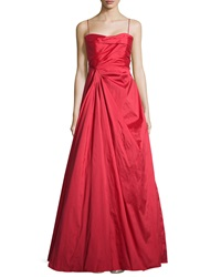 Teri Jon Sweetheart Neck Strapless Gown Red