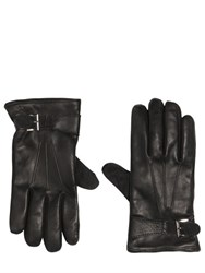 The Kooples Suede And Smooth Leather Gloves