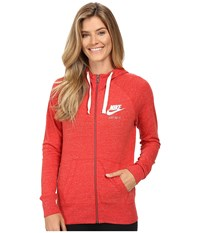 Nike Gym Vintage Full Zip Hoodie University Red Sail Women's Sweatshirt