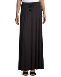 Calypso St. Barth Datca Drawstring Maxi Skirt Black