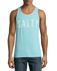 Sol Angeles Salty Graphic Knit Tank Top White Pattern