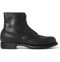 Guidi Culutta Distressed Leather Boots Black