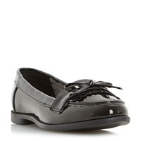 Head Over Heels Gizzy Eyelet Loafers Black