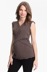 Women's Japanese Weekend Maternity Cross Front Nursing Top