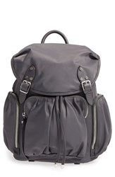M Z Wallace Mz 'Marlena' Bedford Nylon Backpack Grey Marcasite