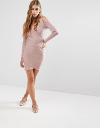 Miss Selfridge Bandage Skirt Pink