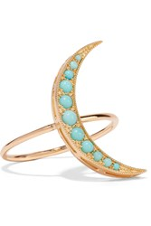 Andrea Fohrman 18 Karat Gold Turquoise Ring Gold Turquoise