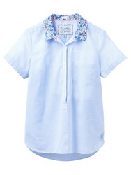 Joules Jo Ditsy Floral Collar Shirt Fine Blue Stripe