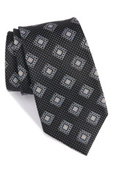 Nordstrom Men's Men's Shop Medallion Silk Tie Navy