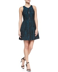 Ali Ro Sleeveless Zip Front Fit And Flare Dress