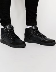 Rock And Religion Hi Top Trainers Black