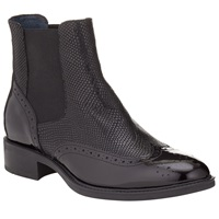 Alice By Temperley Somerset By Alice Temperley Pilton Brogue Ankle Boots Black Patent Leather
