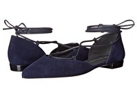 Stuart Weitzman Gilligan Niceblue Suede Women's Dress Flat Shoes Purple