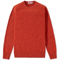 Inis Meain Donegal Crew Knit Orange