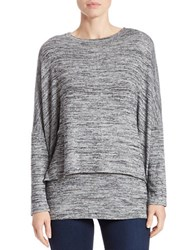 Context Space Dyed Dolman Sweater Black Ivory
