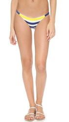 Solid And Striped Morgan Bikini Bottoms Blue And Cream Terry