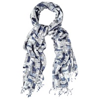 White Stuff Houses Scarf Blue Multi