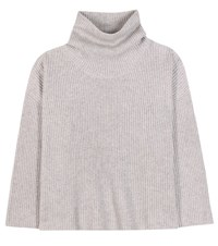 The Row Kaima Cashmere And Silk Turtleneck Sweater Grey