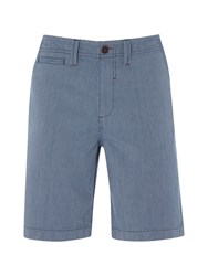 White Stuff Stripe Chino Short Blue