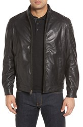 Missani Le Collezioni Men's Leather And Wool Reversible Jacket