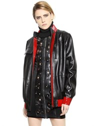 Anthony Vaccarello Patent And Nappa Leather Jacket