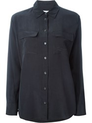 Equipment Front Pocket Shirt Black