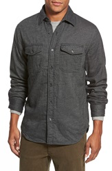Relwen Double Layer Cotton Work Shirt Charcoal